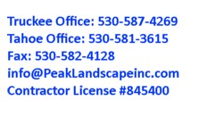 Truckee / North Lake Tahoe Landscaping - Landscape – Irrigation – Patios – Fences & Tree Work